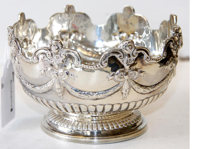 A late Victorian silver rose bowl