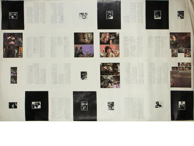 Page proofs for the 'Get Back' booklet,