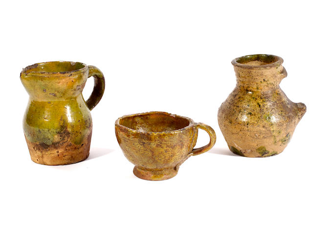 Three pieces of English medieval pottery
