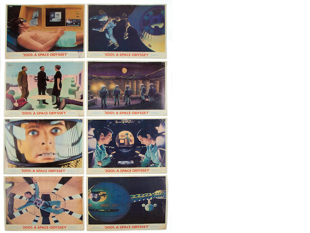 2001: A Space Odyssey lobby card set of eight,