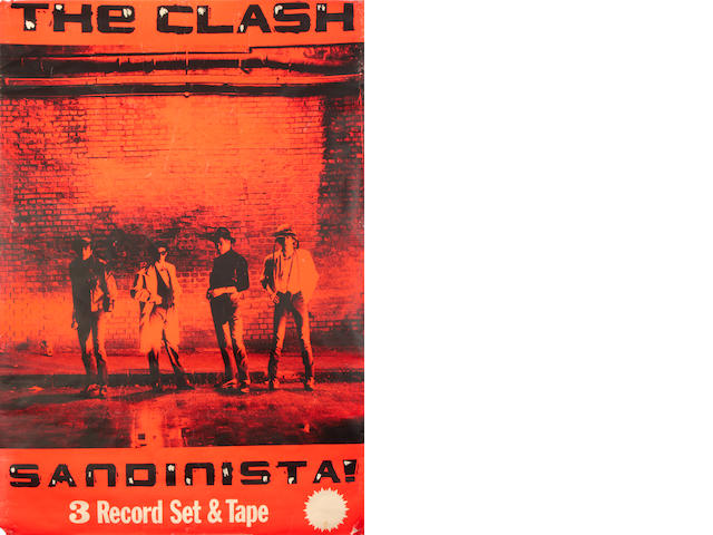 A large promo poster for 'Sandanista' by The Clash, 1980/81,