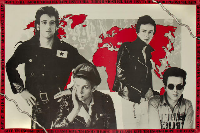 A promo poster for 'Give 'Em Enough Rope' by The Clash',