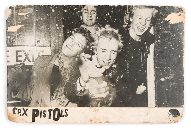 A rare Sex Pistols EMI promo board, 1976,