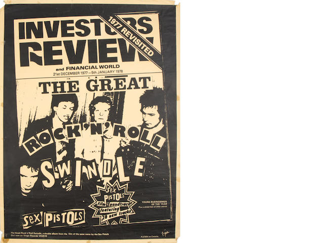 Sex Pistols Virgin promo posters, 1970s,