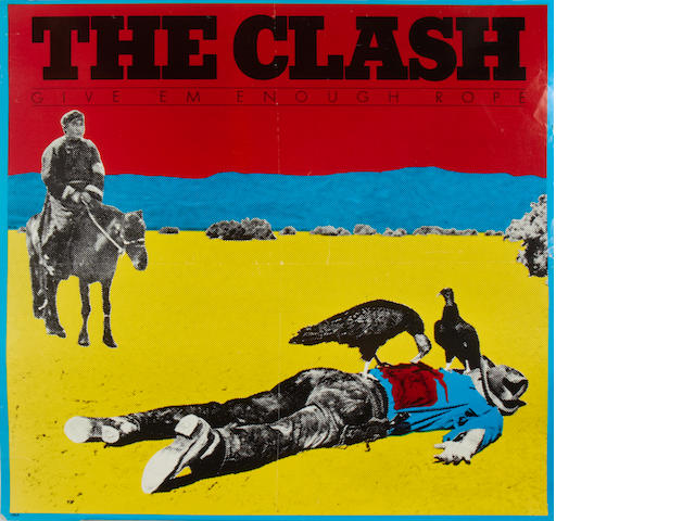 A promo poster for 'Give 'Em Enough Rope' by The Clash,