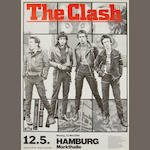 The Clash; A German concert poster,