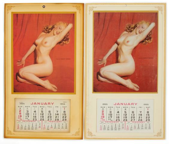 Marilyn Monroe; A calander, 1955,