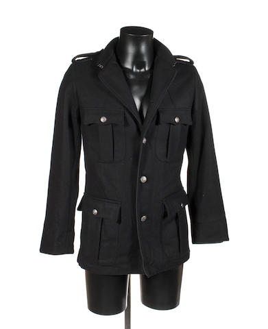 A black military-style jacket,