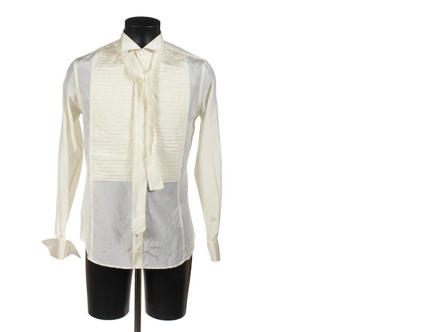 Robert Cavalli cream shirt with neck tie
