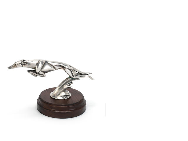 A fine 'Leaping Greyhound' mascot for Delage, by Casimir Brau, French, late 1920s,
