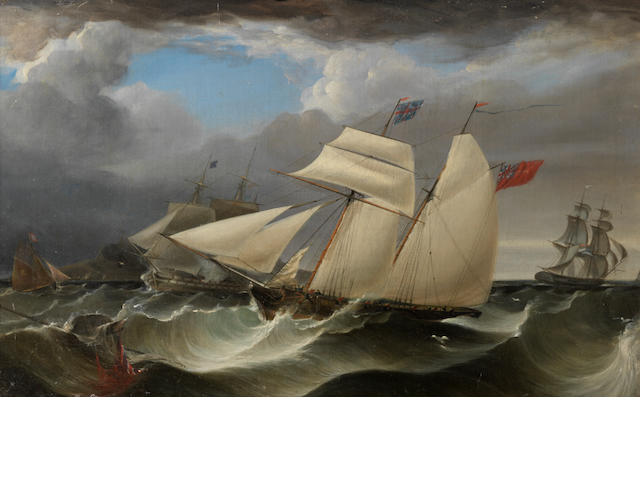 Follower of James Harris - 27'x17' - oil on canvas This is qite a good, dramatic image. However, it is considerably darker than I remember from the image and it is not in great condition. I'm sorry but I advise dropping the estimate to £600-800 and place a firm reserve of £550 on it.