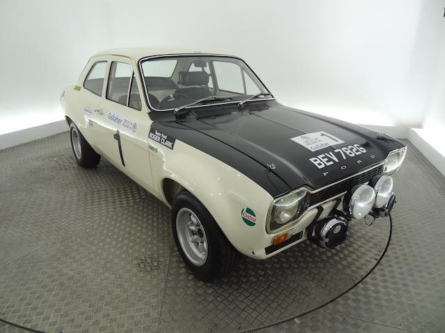 Ex-Works 1968 Ford Escort Twin Cam Mk1 Rally Saloon   1st 1969 Circuit of Ireland (Roger Clark/Jim Porter), 1st 1969 Welsh (Ove Anderson/Gunnar Palm), 4th 1969 Rallye Monte Carlo (Jean-Francois Piot/Jean Todt), and also started 1969 San Remo and RAC Rallies (Hannu Mikkola/Mike Wood), and Scottish (Clark/Porter)  Chassis no. BB49HT35069