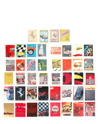 A collection of Ferrari Yearbooks,