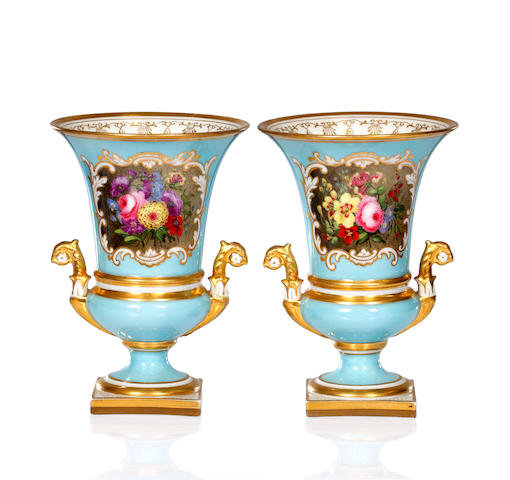 A pair of Flight, Barr and Barr vases, circa 1820-30