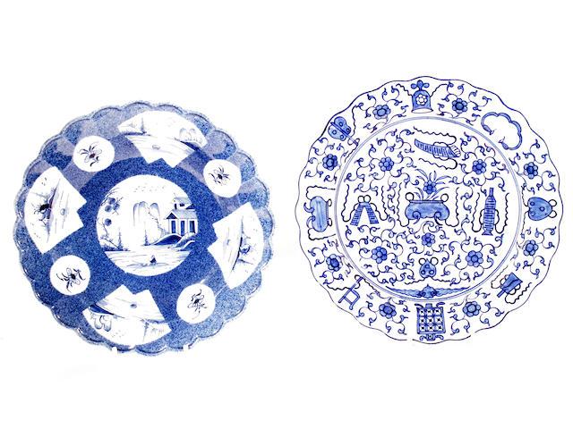 Two Worcester dessert plates, circa 1770