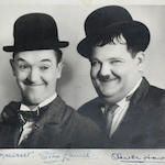 Laurel and Hardy signed photograph,