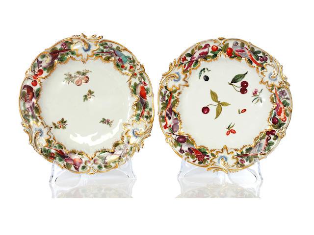 A pair of Chelsea plates, circa 1753-58