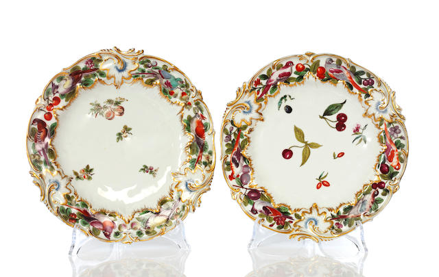A pair of Chelsea plates, circa 1753-58