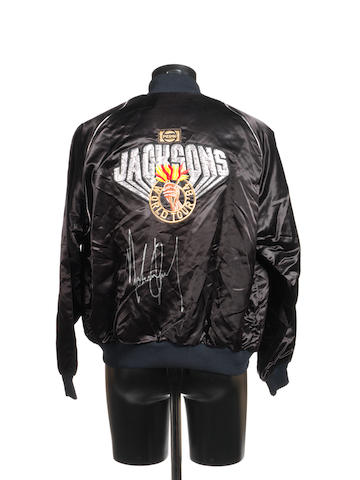 An autographed Jacksons 'Victory' World Tour '84 jacket,