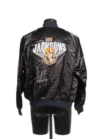 An autographed Jacksons 'Victory' World Tour '84 jacket,