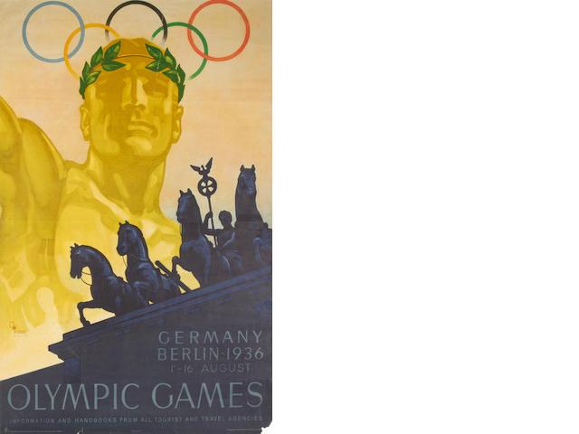 1936 Berlin Olympics poster