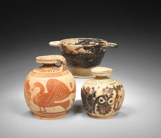 Three Corinthian pottery vessels 3