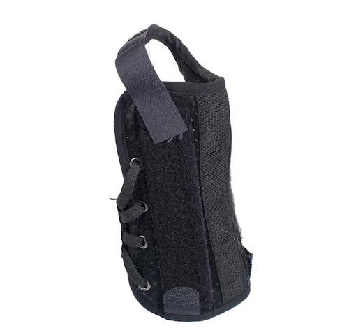 A black wrist strap,