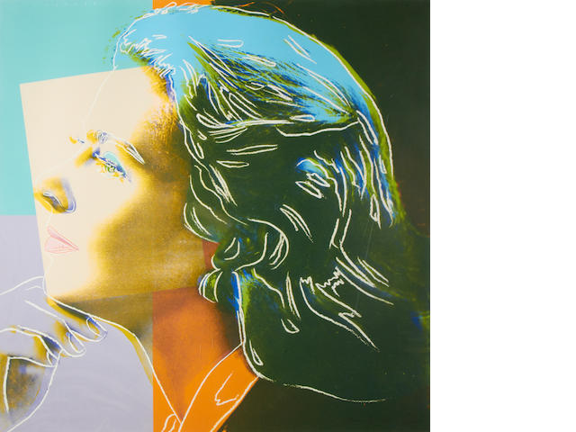 Andy Warhol (American, 1928-1987) Herself, from: Ingrid Bergman (F.& S.II.313)  Screenprint in colours, 1983, on Lenox Museum Board, signed in pencil, numbered 42/250, printed by Rupert Jasen Smith, with his blindstamp at lower left, published by Galerie Börjeson, Malmö, Sweden, the full sheet, I., S. 965 x 965 mm.