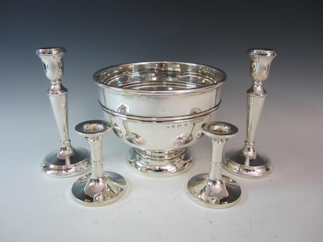 A silver rose bowl Birmingham 1912  (5)