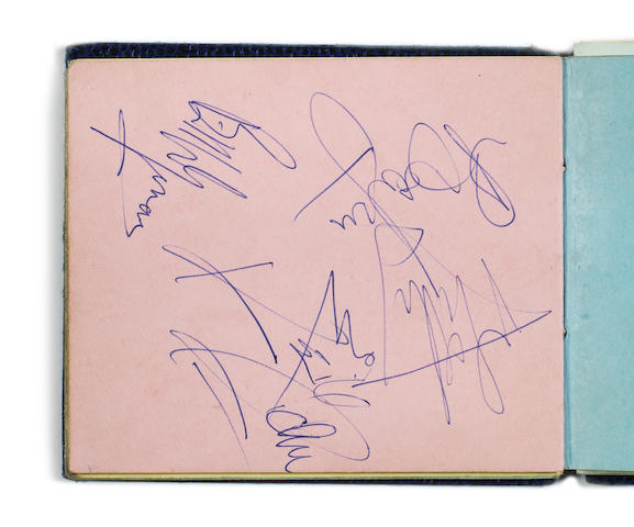 Autographs of the Beatles, the Rolling Stones and others, 1960s,