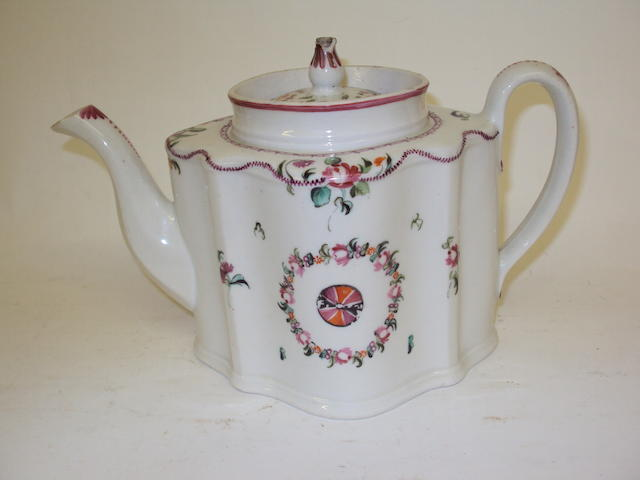 A Newhall teapot and cover