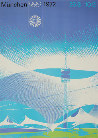 TG to catalogue: A collection of Munich 1972 posters (15) and LA Olympics posters (5).