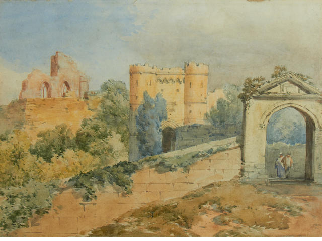 William Callow, RWS (British, 1812-1908) Carisbrooke Castle