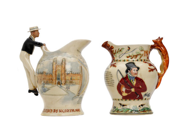 A Crown Devon Eton 'Boating Song' musical jug