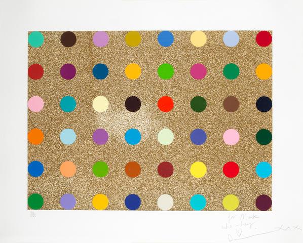 Damien Hirst (British, born 1965) Glitter Spot LE print 34/100