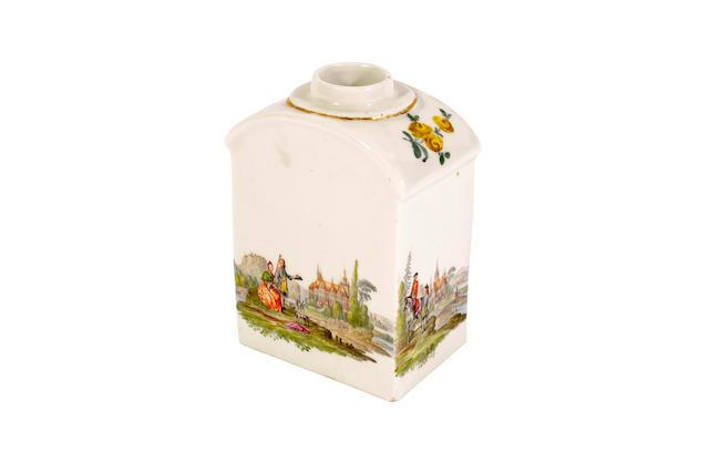 A Meissen tea canister, circa 1750