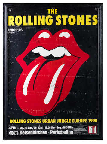 A signed Rolling Stones concert poster,