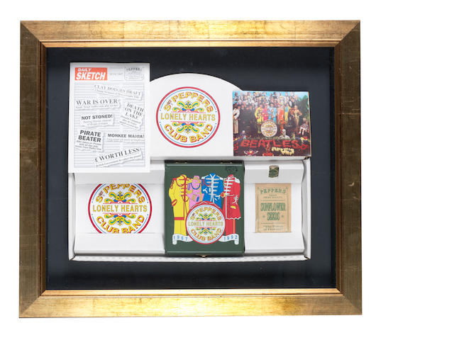 A 25th Anniversary 'Sgt. Pepper's Lonely Hearts Club Band' CD box set autographed by George Harrison,