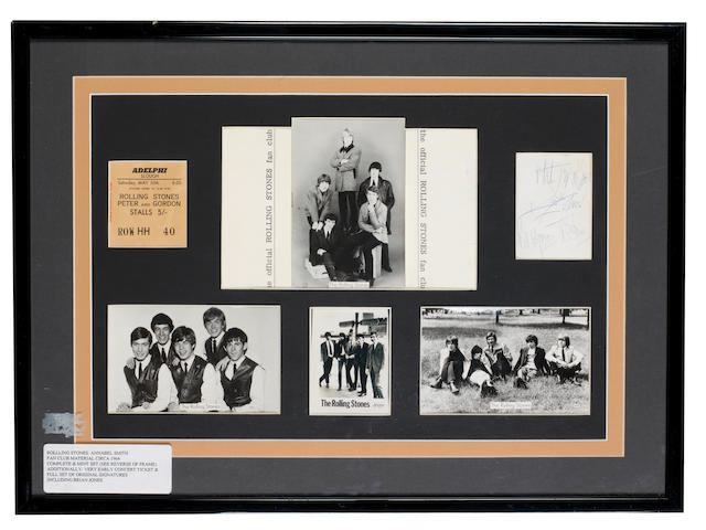 The Rolling Stones: autographs and Fan Club items, 1960s,