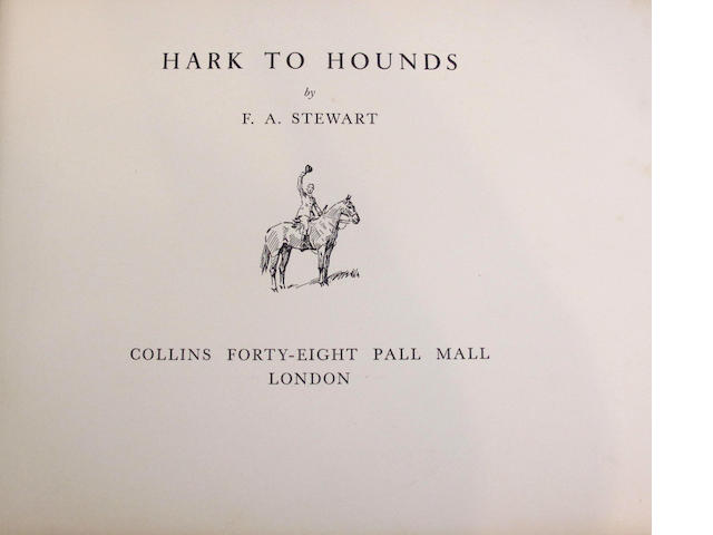 HUNTING STEWART (F.A.) Hark to Hounds