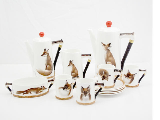 A Royal Doulton 'Reynard the Fox' part coffee set