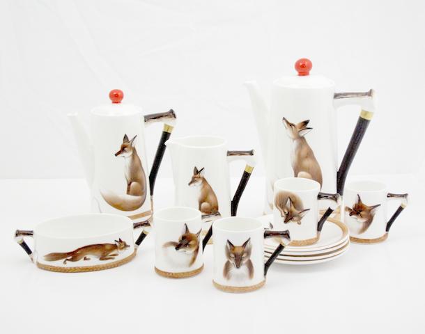 A Royal Doulton 'Reynard the Fox' part coffee set
