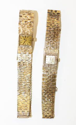 Two 9ct gold lady's wristwatches,