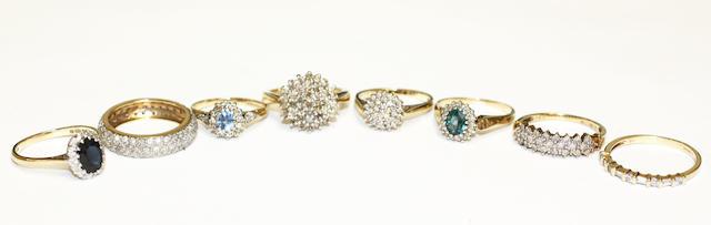 A diamond full hoop eternity ring, (8)