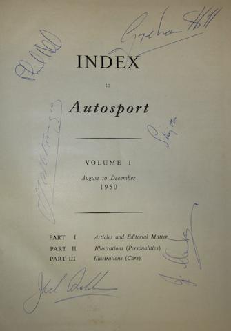 Autosport Volume 1, August to December 1950,