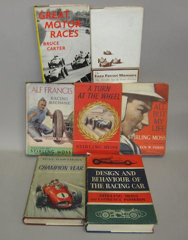 A good collection of motoring books,