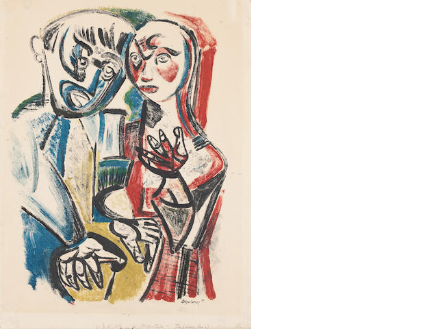 Robert Colquhoun (British, 1914-1962) The Lovers  55 x 42cm