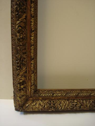 An English late 17th Century carved and gilded frame
