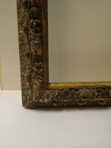 A Continental 19th Century carved and gilded frame