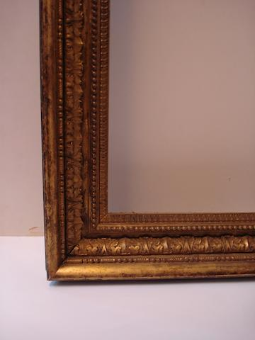 An English late 18th Century gilded composition Carlo Maratta frame